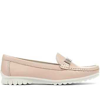 Jones 24-7 Womens Tess Casual Leather Loafer