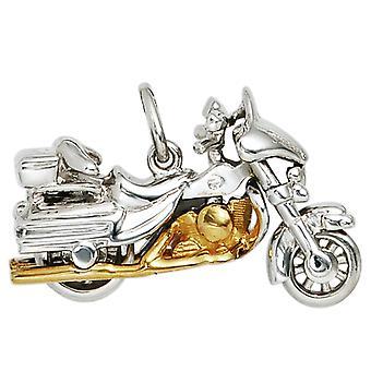 Mannen hangmotor 925 sterling zilver rhodium verguld bicolor verguld