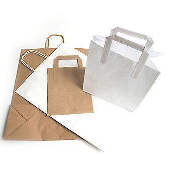 Weller Brown Kraft Paper Tape Handle SOS Takeaway Bags