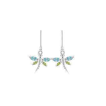 Tuscany Silver - Sterling 925 Silver Pendant Earrings - with Crystal