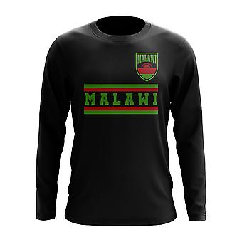 Malawi Core Football Country Long Sleeve T-Shirt (Black)