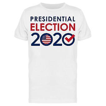 Vaalit 2020 W /Tarkista Merkki Tee Men's -Kuva Shutterstock Men's T-paita