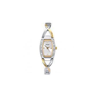Sekonda Ladies 'Elliptica' White Dial 2 Colour Bangle Watch 4605