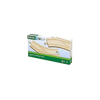 Brio 33346 Brio Curved Switching Tracks - Points -  Wooden Railway