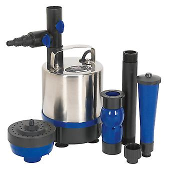 Sealey Wpp3600S Submersible Pond Pump Stainless Steel 3600Ltr/Hr 230V