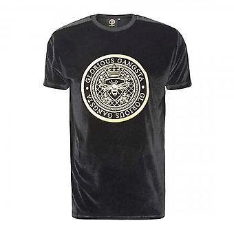 Glorious Gangsta Mareno Black Velour T-shirt