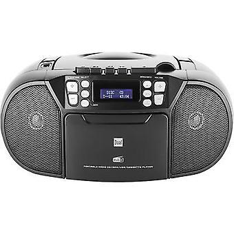 Dual DAB-P 210 Radio CD speler DAB+, FM AUX, CD Zwart