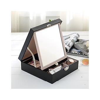 31MADISON caja de joyería acolchada negro