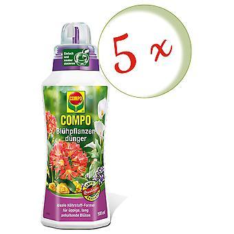 Sparset: 5 x COMPO Blühpflanzendünger, 500 ml
