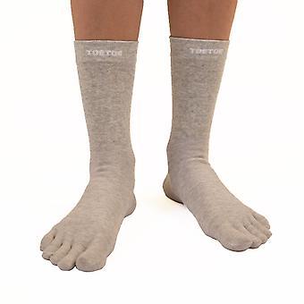 TOETOE Health Silver Unisex Mid-Calf Toe Socks