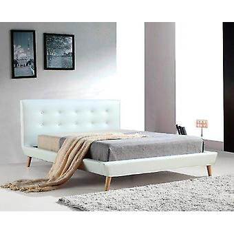 Palermo PU Leather Bed Frame and Button Tufted Headboard