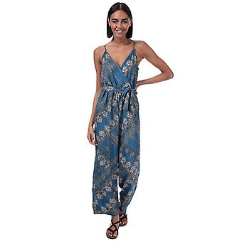 Women's Only Diana Scarf Print Jumpsuit in Blue
