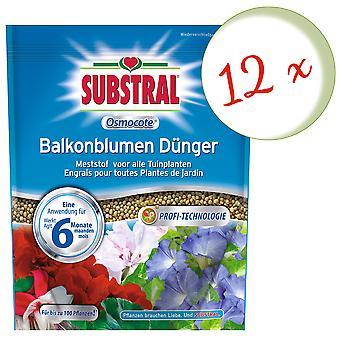 Sparset: 12 x SUBSTRAL® Osmocote balcony flower fertilizer, 1.5 kg
