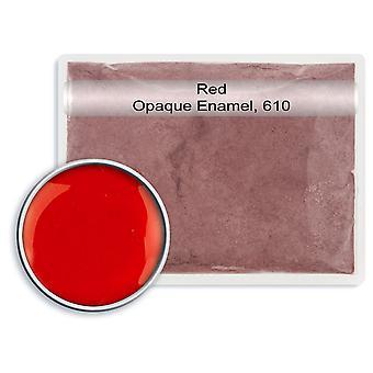 Bezołowiowa nieprzezroczysta szkliwo czerwone, 610, 25gm