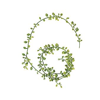 1.25m Plastic Garland of Small Leaves for Miniature Garden Crafts
