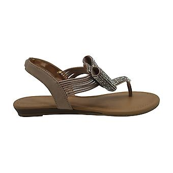 Material Girl Seana Flat Sandals, Created for Macy's - Nude Bling