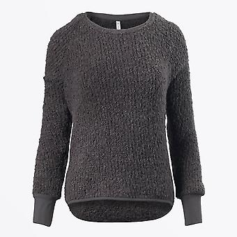Ania Schierholt  - Round Neck Curly Knit Sweater - Grey