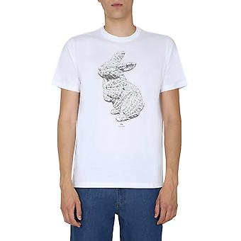 Ps By Paul Smith M2r011rep214401 Men's White Cotton T-shirt