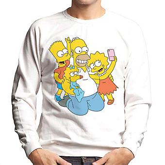 The Simpsons Selfie With Dad Men's Sweatshirt
