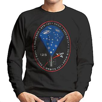 NASA STS 125 Atlantis Mission Badge Distressed Men's Sweatshirt