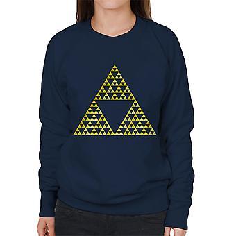 Legend Of Zelda Rohkeus Viisaus Power Naiset&s Collegepaita