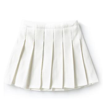 Girls High Waisted Pleated Zip Tennis Style Skater Mini Skirt (Kids)