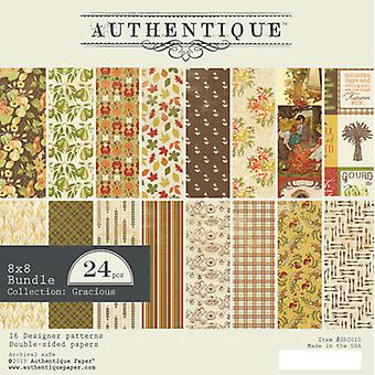 Authentique Gracious 8x8 pulgadas de papel Pad