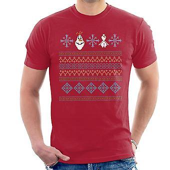 Disney gefroren Olaf gestrickte Schneeflocke Design Männer's T-Shirt