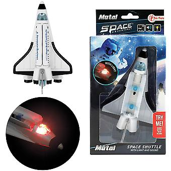 METAL Space Shuttle Űrhajó Pull Back 14cm a hang és fény