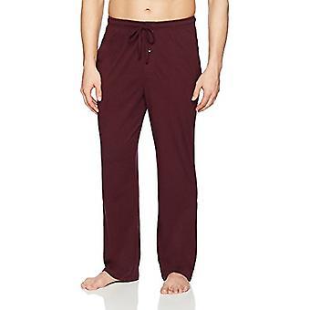 Essentials Men's Knit Pajama Pant, Borgonha, Grande