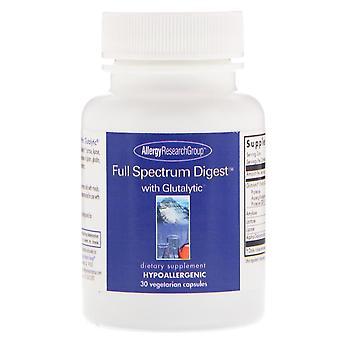 Gruppo di ricerca sulle allergie, Full Spectrum Digest con glutalytico, 30 tappi vegetariani
