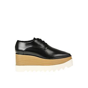 Stella Mccartney Ezgl024088 Zapatos de encaje de poliéster negro para mujer y apos;s