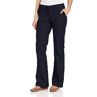 Dickies Women's Flat Front Stretch Twill Pant, Dark Navy, 14 Regular