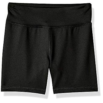 Essentials Big Girls' Stretch Active Short, Black, M