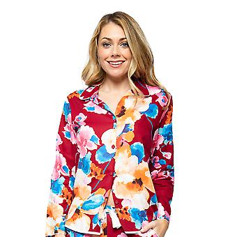 Cyberjammies Megan 4603 Women's Red Mix Floral Print Pyjama Top