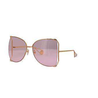 Gucci GG0252S 004 Złote/Różowe Okulary przeciwsłoneczne