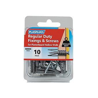 Plasplugs Regular-Duty Fixings & Screws Pack of 10 HWRS010