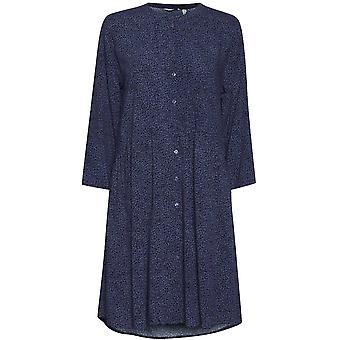 b.young Illa Blue Patterned Shirt Dress