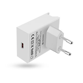Huawei Fast Charging 22.5W USB Wall Charger Swissten White