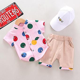 Summer Baby Printed Shirt & Pants,s Sports Suit