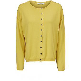 Masai Clothing Lenka Yellow Knit Cardigan