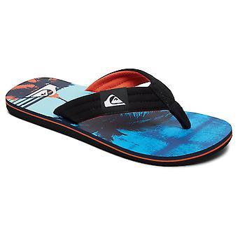 Quiksilver Molokai Layback Flip Flops - Zwart / Oranje / Blauw