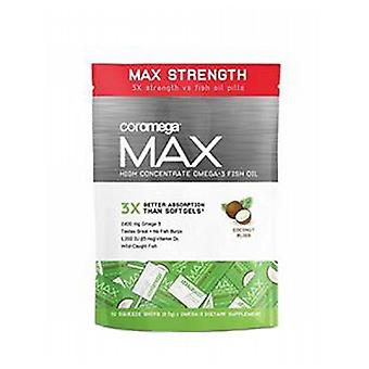 Coromega Max High Concentrate Omega-3, Coconut Bliss 30 Count