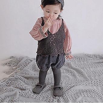 Hiver, velours côtelé de bébé, épaissir le pantalon élastique lâche chaud