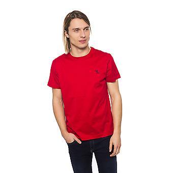 Miljardööri Italian Couture Punainen Mini Kirjonta T-paita