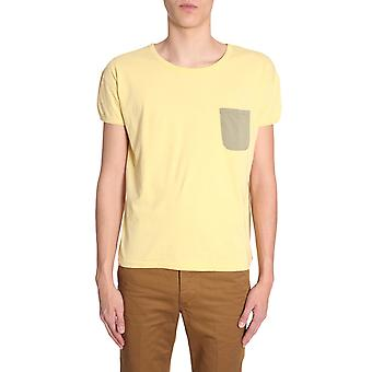 Visvim 0118105010027yellow Men's Yellow Cotton T-shirt