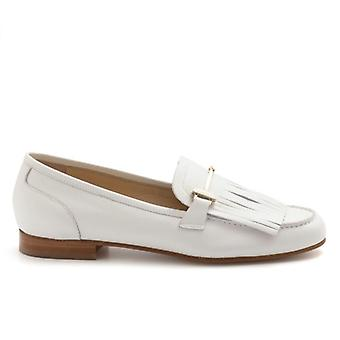 Moccasic With Fringe Luca Grossi White Skin
