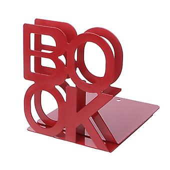 Alphabet Shaped Metal Bookends Support For Books (12.5x13x14cm)