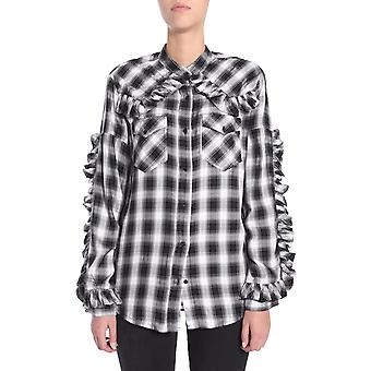 Forte Couture Fcfw173027blkwht Women's White/black Viscose Shirt