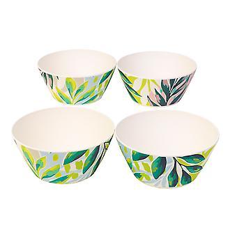 Cambridge Bamboo Bowls x 4 Kayan Print CM06334